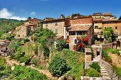 Deia traditional stone village in Majorca Tramuntana mountain Balearic Spain