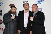 LOS ANGELES - SEP 8:  Roy Nelson, Brendan Schaub, Shane Carwin arrives at the