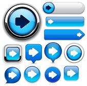 Arrow blue design elements for website or app. Vector eps10.