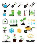 Gartenbau Icons set