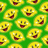 Happy Lemons Seamless Background