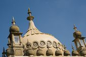 picture of saracen  - Close up detail of Royal Pavilion dome in Brighton against blue sky - JPG