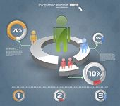 3d infographics  IT. vector web design template