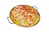 foto of pio  - Isolated Paella on white background  - JPG