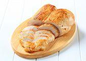 Spicy chicken breast sliced