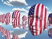 USA Disembodied Flag Faces