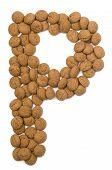 Ginger Nut Alphabet P