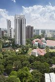 Birdseye view of residential area in Singapore