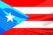 Flag Of Puerto Rico Air Travel Illustration poster