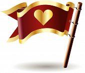 Royal-flag-heart-love-cute