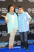 LOS ANGELES - JUN 17: Raini Rodriguez, Rico Rodriguez at The World Premiere for 'Monsters University