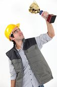 stock photo of employee month  - Employee of the month - JPG