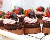 Dessert - Chocolate Cake with Fresh Strawberry