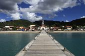 Village of the Anses Arlet, Martinique island, west indies