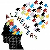 picture of neurology  - Puzzle head Alzheimer - JPG