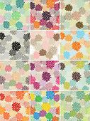 pic of mums  - Bright and Colorful Vector Seamless Mum Flower Background - JPG