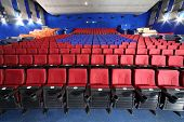 MOSCOW - NOVEMBER 9: Rows of seats in auditorium in Neva cinema, on November 9, 2012 in Moscow, Russ