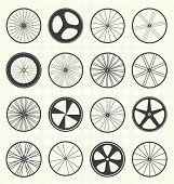 Bike Wheel Silhouettes