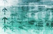 Ein Finanzen Tabellenkalkulation Tech Art Diagrammhintergrund