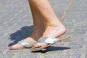 Female Feet And Slippers