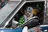 Frozen Dead Guy Days Parade Scary Clown