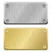 Etiquetas de metais - placas de identificação