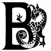Dragon Letter B