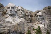Closeup Of Famous Landmark And Sculpture - Mount Rushmore, South Dakota.  Taken July 2009.