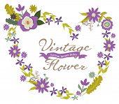 Vintage Flowers Frame