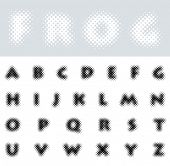 vector dotted raster font