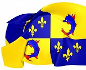 image of dauphin  - Flag of Dauphine France - JPG