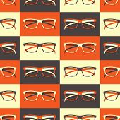 Glasses Seamless Pattern