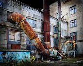 Vintage Old Factory