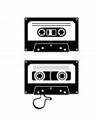 picture of magnetic tape  - audio tape - JPG