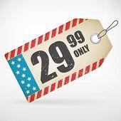 American Realistic Paper Price Tag