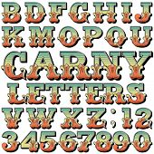 stock photo of alphabet  - An Alphabet Sit of Carnival - JPG