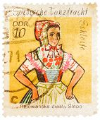 Stamp Printed In German Democratic Republic (east Germany) Shows Sorbische Tanztracht  Rejowanska Dr