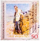 Stamp Printed In The Germany (gdr) Shows Picture By Vladimir Makovsky