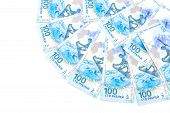 Banknotes Issued 100 Russian Rubles For The Olympics In Sochi In 2014
