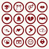 Set valentine's day icons, love on the Internet symbols