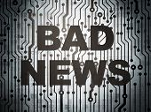 News concept: circuit board with Bad News
