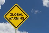 Warning Of Global Warming Sign
