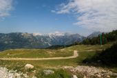 stock photo of velika  - Velika Planina is dispersed high - JPG