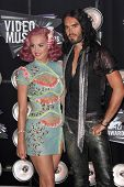 Katy Perry and Russell Brand at the 2011 MTV Video Music Awards Arrivals, Nokia Theatre LA Live, Los
