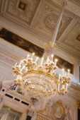 Chandelier In Interiors Of Winter Palace