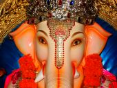 stock photo of ganesh  - A beautiful and auspicious face of a Lord Ganesh - JPG