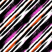 image of diagonal lines  - Multicolor striped pattern with diagonal brushed lines - JPG