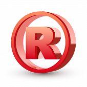 3d Registered Trademark Sign
