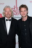 Richard Branson and son Sam Branson at the 5th Annual Rock The Kasbah Fundraising Gala, Boulevard 3, Hollywood, CA 11-16-11
