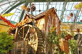 Watermill In A Greenhouse At Bellagio Hotel In Las Vegas